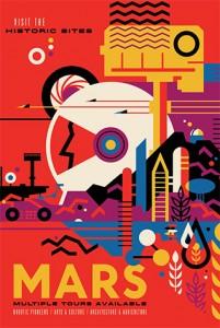 """NASA Mars """"travel"""" poster"""