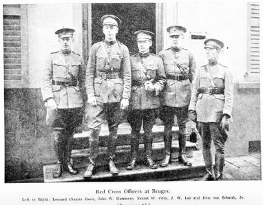 Picture of Red Cross officers including John van Schaick