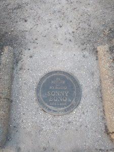 Bono memorial plaque